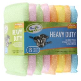 72 Units of 6pk Colorful Cleaning Sponge - Scouring Pads & Sponges