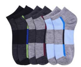 432 Units of Men's Spandex Ankle Socks Size 10-13 - Mens Ankle Sock