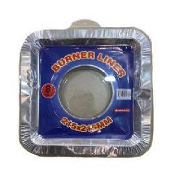 60 Units of 8pc Aluminum Burner Liners [square] - Aluminum Pans