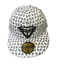 60 Units of Diamond White Flat Brim Snapback Hat - Baseball Caps & Snap Backs