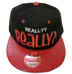 60 Units of Really Really Snap Back Flat Fitted Hats Flat Bill Assorted Color - Baseball Caps & Snap Backs