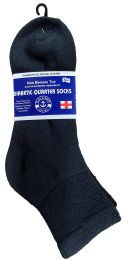 240 Units of Yacht & Smith Men's King Size Loose Fit NoN-Binding Cotton Diabetic Ankle Socks Black Size 13-16 - Big And Tall Mens Diabetic Socks