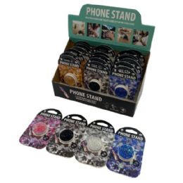 48 Units of Collapsible Phone/tablet Grip And Stand [textured Glitter] - Cell Phone Accessories