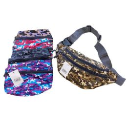 36 Units of Colorful Camo Waist Pack - Fanny Pack