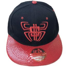 60 Units of Spider Money Snapback Hat Flat Fitted Hats Flat Bill Assorted Color - Baseball Caps & Snap Backs