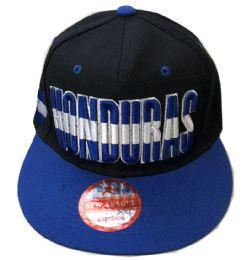 60 Units of Honduras Snapback Hat Fitted Cap Flat Bill Assorted Color - Baseball Caps & Snap Backs