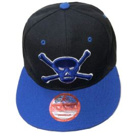 60 Units of Toxic Snapback Hat Fitted Cap Flat Bill In Assorted Color - Baseball Caps & Snap Backs