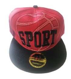 60 Units of Sport Snapback Hat Fitted Cap Flat Bill In Assorted Color - Baseball Caps & Snap Backs