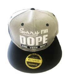 60 Units of Dope Snapback Hat Fitted Cap Flat Bill In Assorted Color - Baseball Caps & Snap Backs