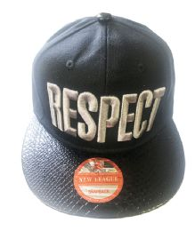 60 Units of Respect Snapback Hat Fitted Cap Flat Bill In Assorted Color - Baseball Caps & Snap Backs