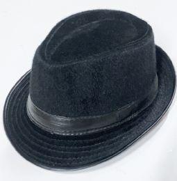 60 Units of Fur Solid Fedora Hat - Fedoras, Driver Caps & Visor
