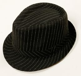 60 Units of Pinstripe Houndstooth Stingy Short Brim Fedora Gangster Hat Cap - Fedoras, Driver Caps & Visor