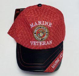 60 Units of Marine Veteran Mesh Cap In Assorted Color - Baseball Caps & Snap Backs