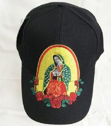 60 Units of Lady Of Guadalupe Maria Embroidered Baseball Cap - Baseball Caps & Snap Backs