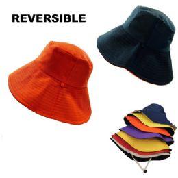 24 Units of Ladies Reversible Two-Tone Bucket Hat - Bucket Hats