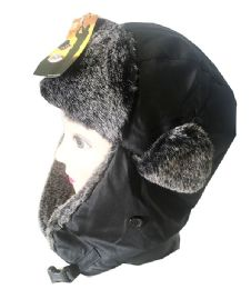 72 Units of Mens Winter Aviator Hat In Assorted Color - Trapper Hats