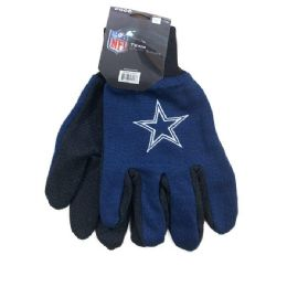 12 Units of Licensed Team Utility Gloves With Gripper Palm [cowboys] - Working Gloves