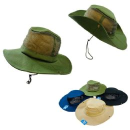 24 Units of Mesh Boonie Hat-Solid Color - Cowboy & Boonie Hat