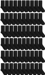 60 Units of 60 Pairs Womens Casual Crew Sock, Women Dress Socks Wholesale Bulk (60 Pairs Solid Black) Size 9-11 - Womens Crew Sock