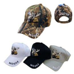 24 Units of Moose Ball Cap - Hunting Caps