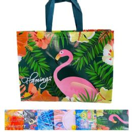 """84 Units of Printed Vinyl Shopping Bag with Handles [15""""x12""""x4""""] - Bags Of All Types"""