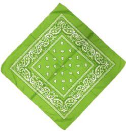 120 Units of Lime Green Western Neck Bandana - Bandanas