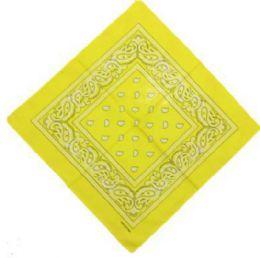 120 Units of Yellow Western Neck Bandana - Bandanas