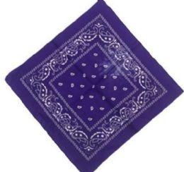 120 Units of Dark Purple Western Neck Bandana - Bandanas