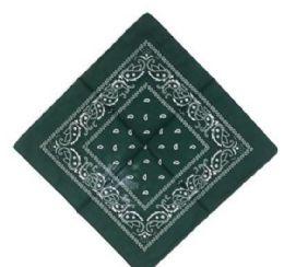 120 Units of Dark Green Western Neck Bandana - Bandanas