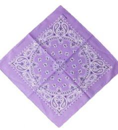 120 Units of Light Purple Western Neck Bandana - Bandanas