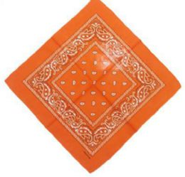 120 Units of Orange Bandana Cotton Custom Fashion Paisley Design - Bandanas
