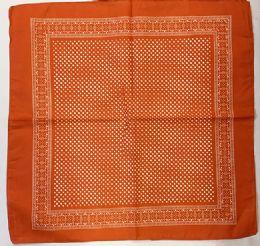 120 Units of Orange Dot Bandana - Bandanas