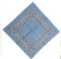120 Units of Baby Blue Paisley Cotton Bandana - Bandanas