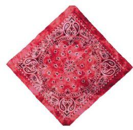 120 Units of Red Tye Dye Cowboy Bandana - Bandanas