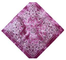 120 Units of Pink Tye Dye Bandana - Bandanas