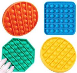 24 Units of Push Pop Fidget Toy [solid 3 Styles] - Educational Toys