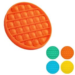 24 Units of Push Pop Fidget Toy [solid Circle] - Educational Toys