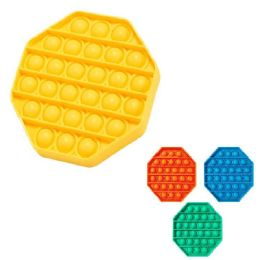 24 Units of Push Pop Fidget Toy [solid Octagon] - Educational Toys