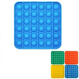 24 Units of Push Pop Fidget Toy [solid Square] - Educational Toys