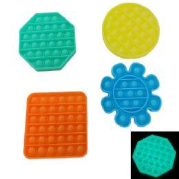 24 Units of Push Pop Fidget Toy [glow 4 Styles] - Educational Toys