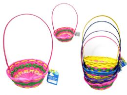 36 Units of Easter Basket Oval Woven - Easter
