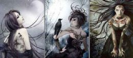 12 Units of Goth Girl Canvas Picture Wall Art - Wall Decor