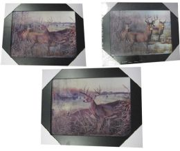 12 Units of 3d Deer Canvas Picture Wall Art - Wall Decor
