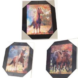 12 Units of Autumn Horse Canvas Picture Wall Art - Wall Decor