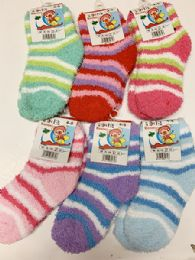 144 Units of Women Thick Indoor Socks In Assorted Colors Size 4-8 - Womens Ankle Sock