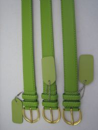 96 Units of Skinny Green Belt Thin Waist Jeans Belt For Pants In Pin Buckle Belt - Unisex Fashion Belts