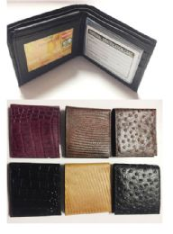 24 Units of Bi Folded Wallet In 6 Assorted Colors - Leather Wallets