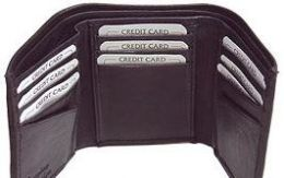 24 Units of Black Tri Folded Wallet - Leather Wallets