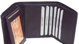 24 Units of Men Black Tri-Fold Leather Wallets - Leather Wallets