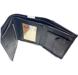 24 Units of Men Brown Tri-fold Leather Wallets - Leather Wallets